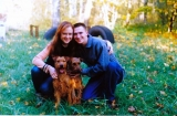 My husband, me, Breezy and Cleo (year 2001).